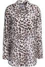 EQUIPMENT Leopard-print cotton and silk-blend shirt