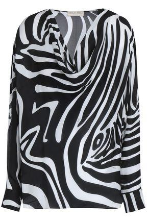 EMILIO PUCCI Zebra-print silk blouse