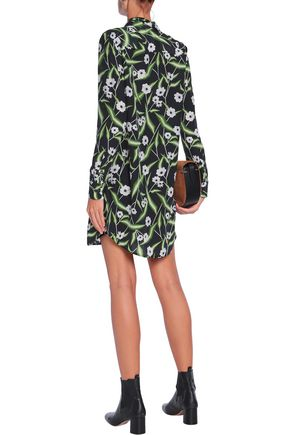EQUIPMENT Brett floral-print washed-silk mini shirt dress