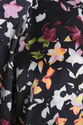 EQUIPMENT Printed washed-silk mini shirt dress