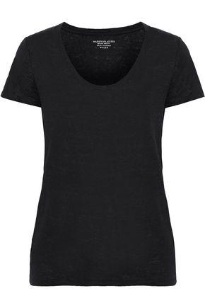 MAJESTIC FILATURES Slub stretch-linen jersey T-shirt