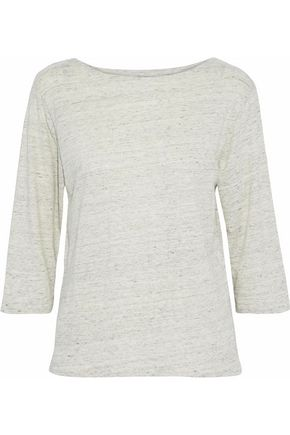 MAJESTIC FILATURES Slub stretch-linen jersey top