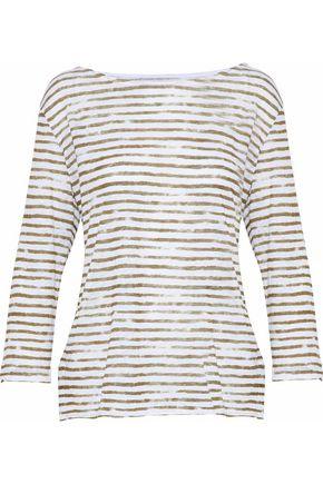 MAJESTIC FILATURES Striped stretch-linen top