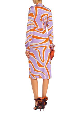 EMILIO PUCCI Knotted printed silk-jersey dress