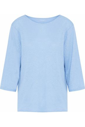 MAJESTIC FILATURES Linen-blend jersey T-shirt