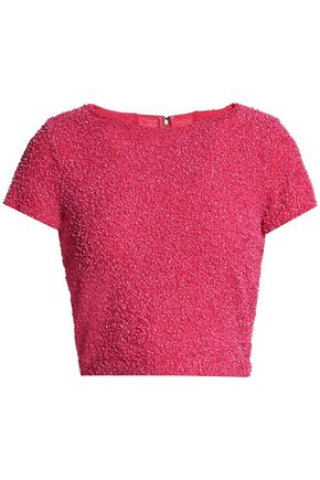 ALICE + OLIVIA JEANS Sequined knitted top