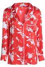 ALICE + OLIVIA Printed silk-satin shirt