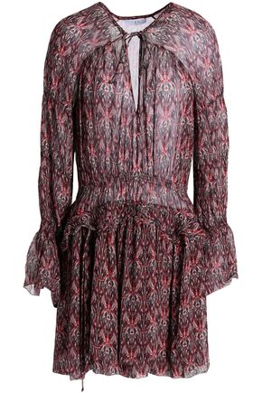 IRO Printed crepe mini dress
