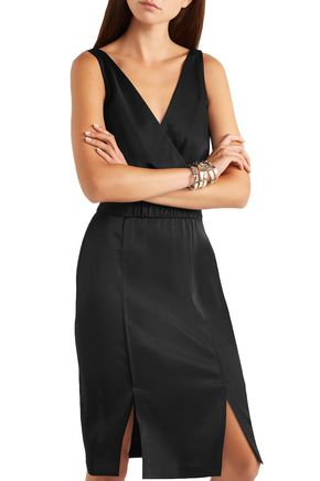 RACHEL ZOE Norah wrap-effect satin-crepe dress