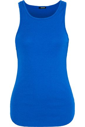 MONROW Ribbed cotton and modal-blend jersey tank