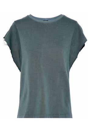 MONROW Cotton and tencel-blend terry T-shirt