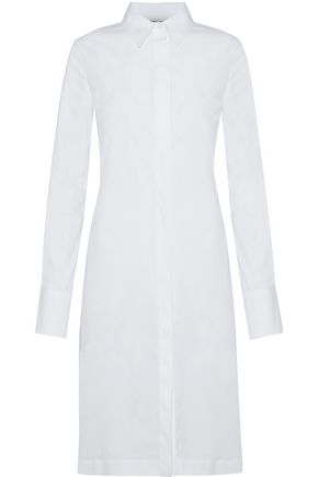 HELMUT LANG Cotton-blend poplin shirt dress