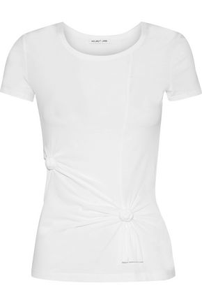 HELMUT LANG Knotted cotton-blend jersey T-shirt