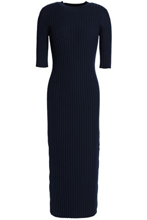 JOSEPH Ribbed wool-blend midi dress