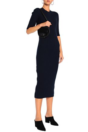 Ribbed Wool Blend Midi Dress by Joseph