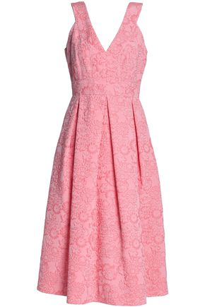 ERDEM Pleated cloqué midi dress