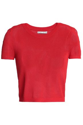 ALICE + OLIVIA Opne-knit top