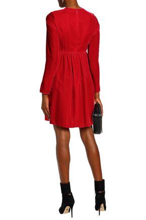 CHLOÉ Cutout velvet mini dress