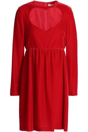 CHLOÉ Cutout velvet mini dress