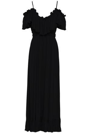 TART COLLECTIONS Cold-shoulder ruffled woven maxi dress