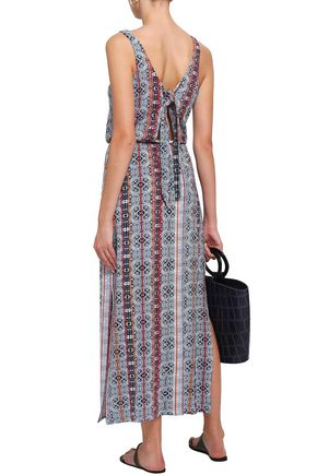 TART COLLECTIONS Knotted printed jersey midi dress