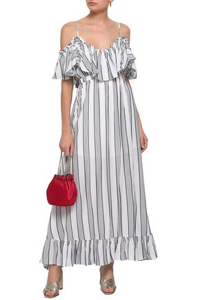946be798570e TART COLLECTIONS Cold-shoulder ruffled woven maxi dress