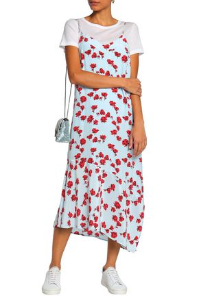 EQUIPMENT Cool Breeze floral-print silk crepe de chine midi dress