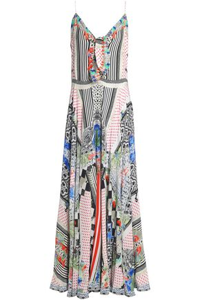 CAMILLA Day Dreamer embellished printed silk crepe de chine maxi dress
