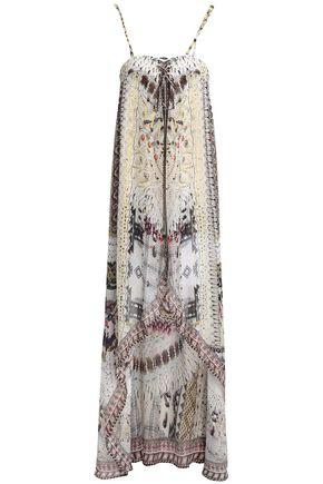 CAMILLA Spell Bound asymmetric printed silk dress