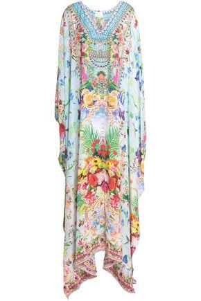 CAMILLA Embellished silk maxi dress