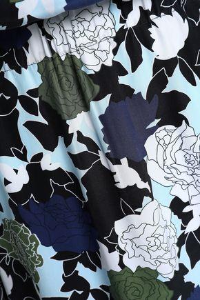 EQUIPMENT Chelsea floral-print washed-silk mini shirt dress