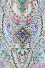 CAMILLA Garden State asymmetric printed silk-chiffon top