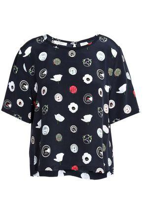 EQUIPMENT プリント シルククレープデシン Tシャツ