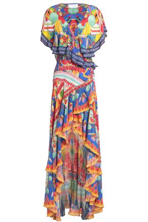CAMILLA A Night To Remember crystal-embellished printed silk wrap dress