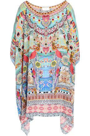 CAMILLA Miranda's Diary crystal-embellished printed silk kaftan