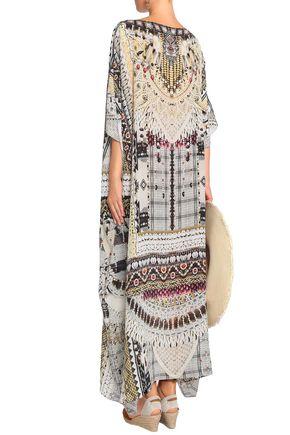 CAMILLA Girl Next Door crystal-embellished printed silk kaftan