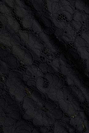 RACHEL ZOE Rosella chiffon-trimmed lace sweatshirt