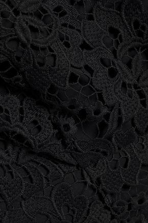 RACHEL ZOE Off-the-shoulder guipure lace top