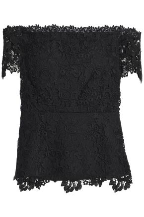 RACHEL ZOE Off-the-shoulder guipure lace top