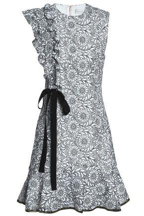 REBECCA VALLANCE Embroidered lace mini dress