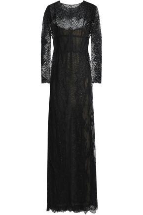 ALBERTA FERRETTI Chantilly lace gown