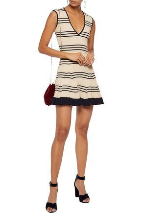 ae700f3c320 ALICE McCALL Frenchie striped metallic ribbed-knit mini dress