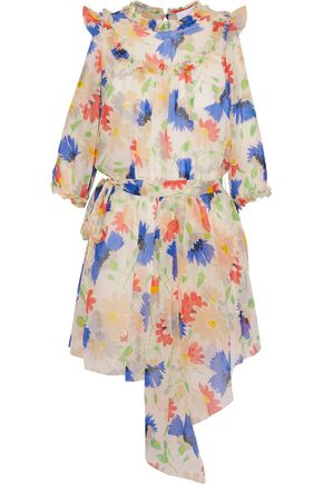 ALICE McCALL Get In Line cold-shoulder floral-print georgette mini dress