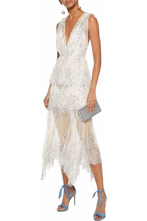 5655825ea99 ALICE McCALL Clementine lace peplum midi dress