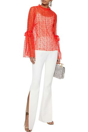 ALICE McCALL Just Lust bow-detailed lace blouse