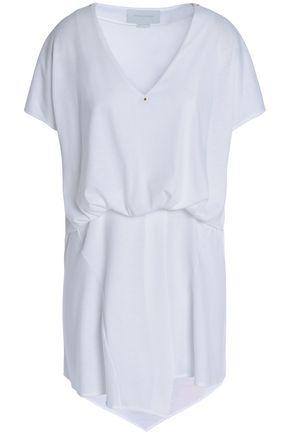 ESTEBAN CORTAZAR Wrap-effect gathered stretch-jersey blouse