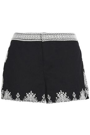 JOIE Embroidered cotton shorts