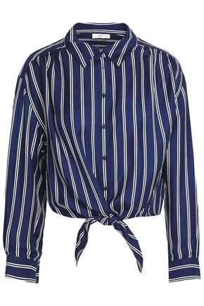 JOIE Striped silk-twill shirt