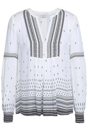 JOIE Printed silk-crepe blouse