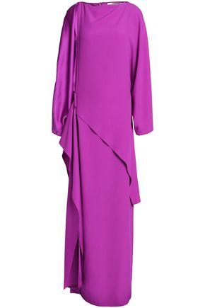 CHALAYAN Layered draped satin-crepe gown